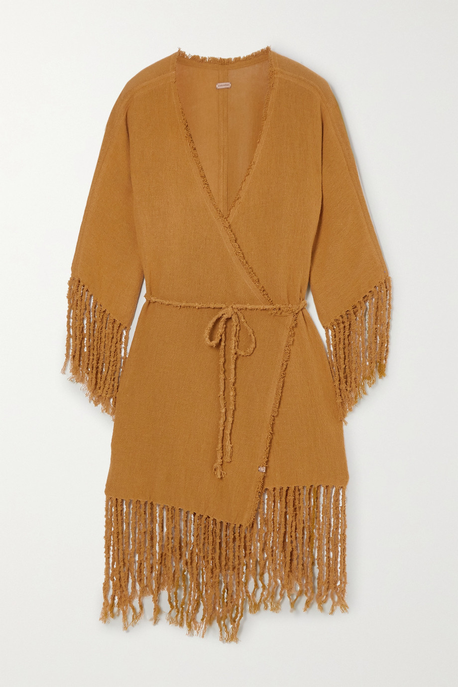 Caravana + NET SUSTAIN Tsuuy fringed cotton-gauze dress
