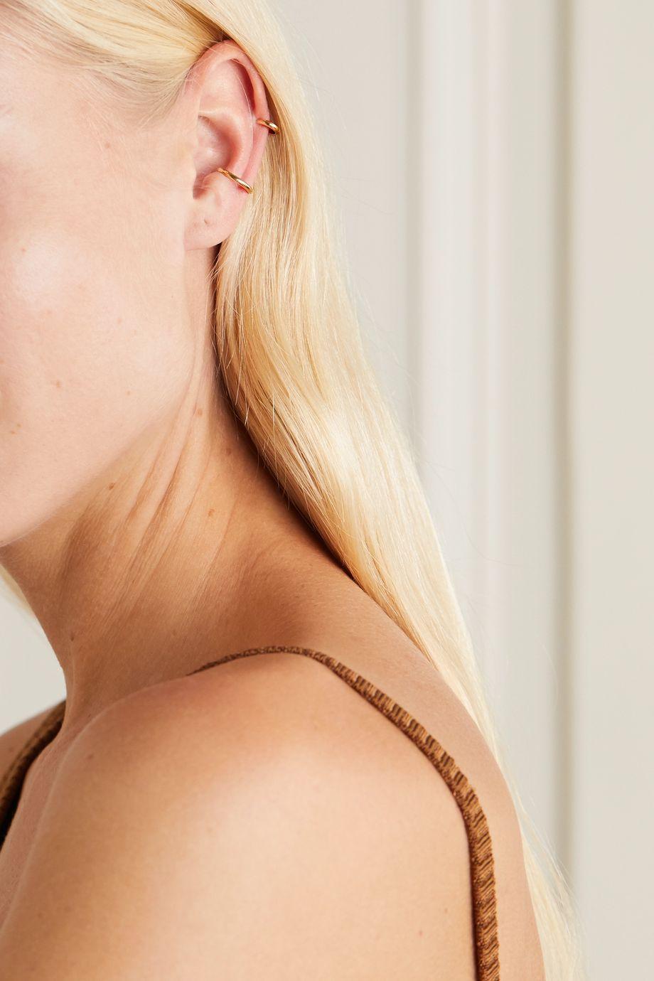 Saskia Diez + NET SUSTAIN Bold Wire gold ear cuff