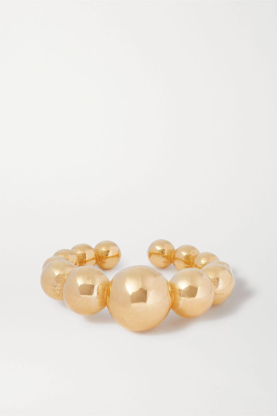 Saskia Diez + NET SUSTAIN Drop gold ear cuff
