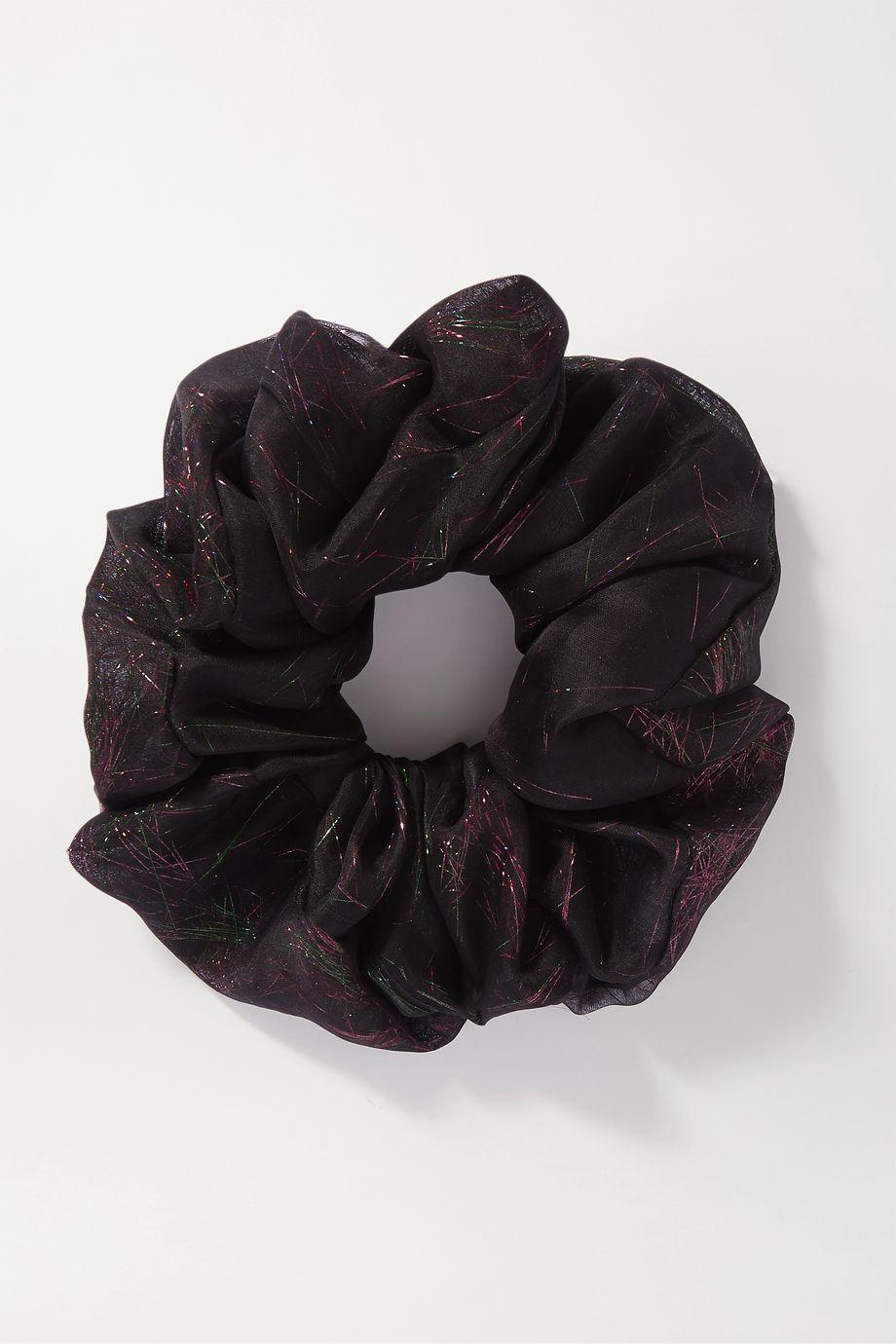 STVDIO + Jennah Rainier glittered silk-blend organza hair tie