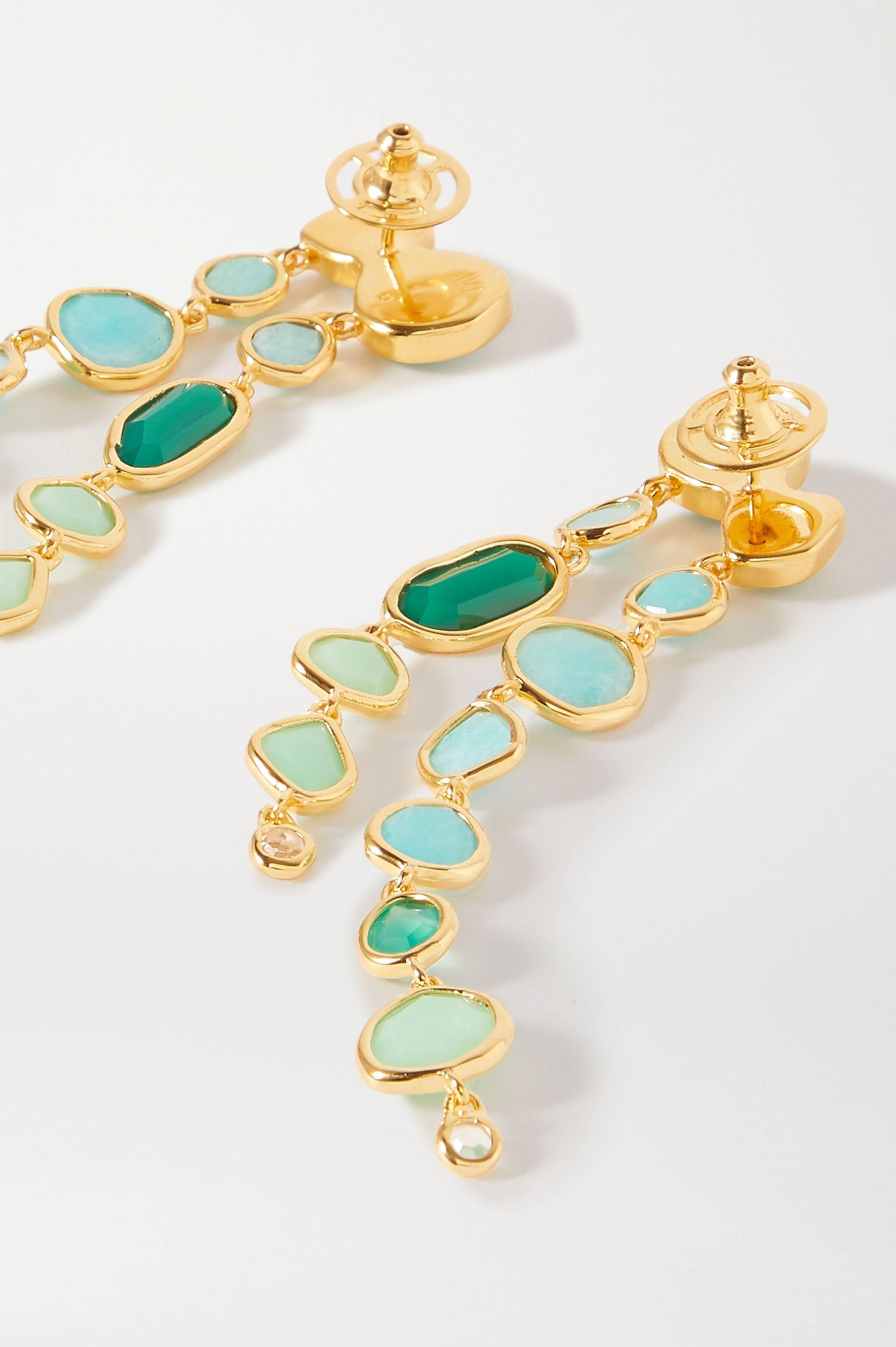 Monica Vinader Siren gold vermeil multi-stone earrings