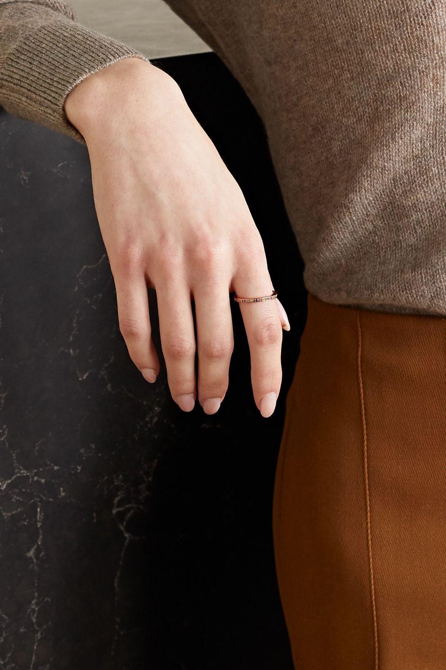 Monica Vinader Rose gold vermeil multi-stone ring
