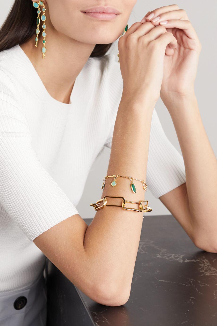 Monica Vinader Siren gold vermeil multi-stone bracelet