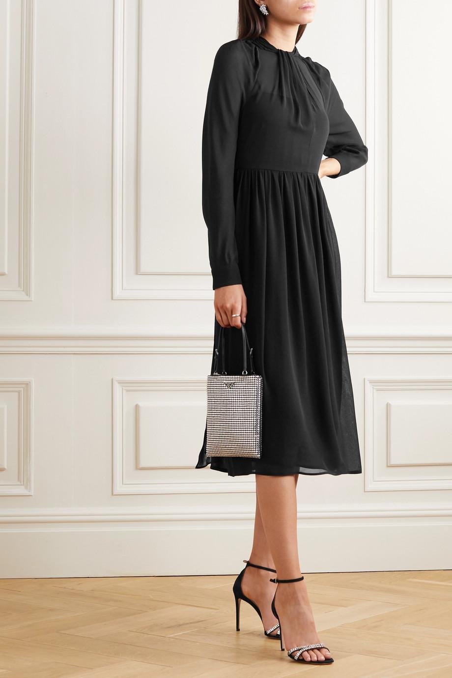 Prada Silk-crepe midi dress