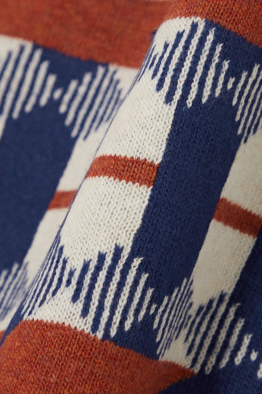 Prada Ärmelloser Pullover aus Wolle mit Intarsienmuster