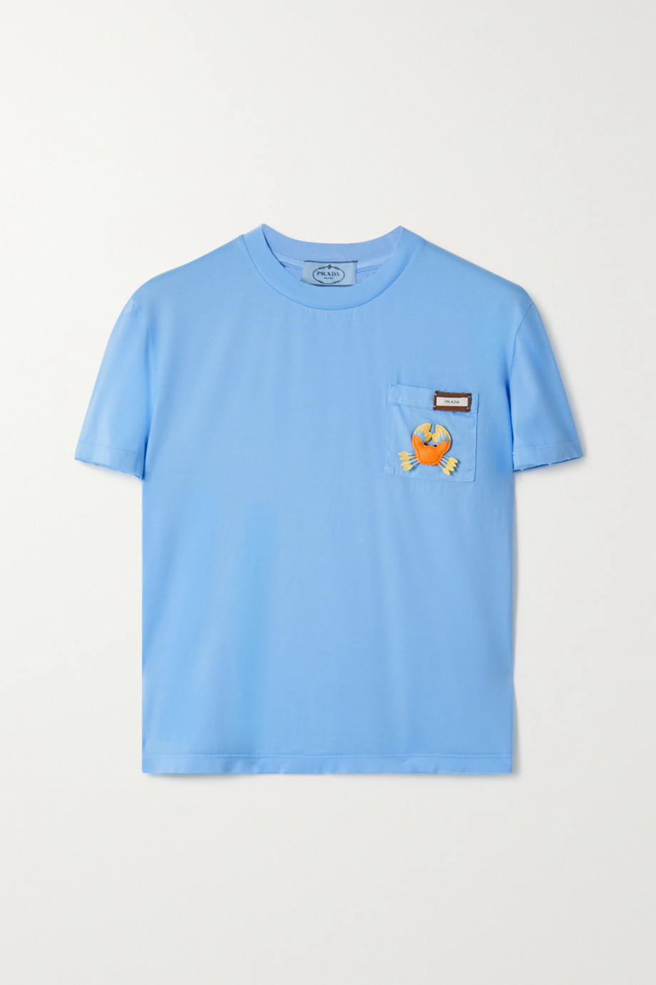 Prada Appliquéd cotton-jersey T-shirt