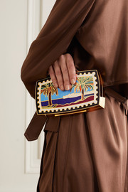 13BC + Mary Katrantzou Mykonos gold-tone and enamel clutch