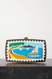 13BC + Mary Katrantzou Sounio gold-tone and enamel clutch