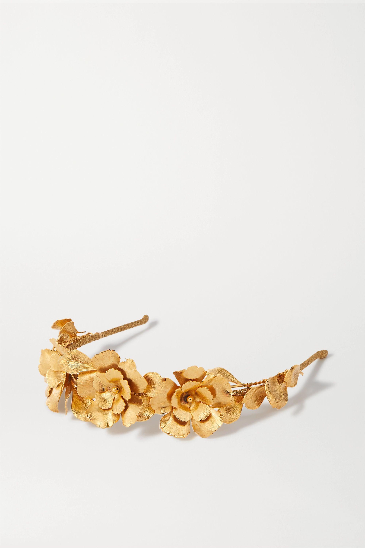 Jennifer Behr Rowena gold-tone headband