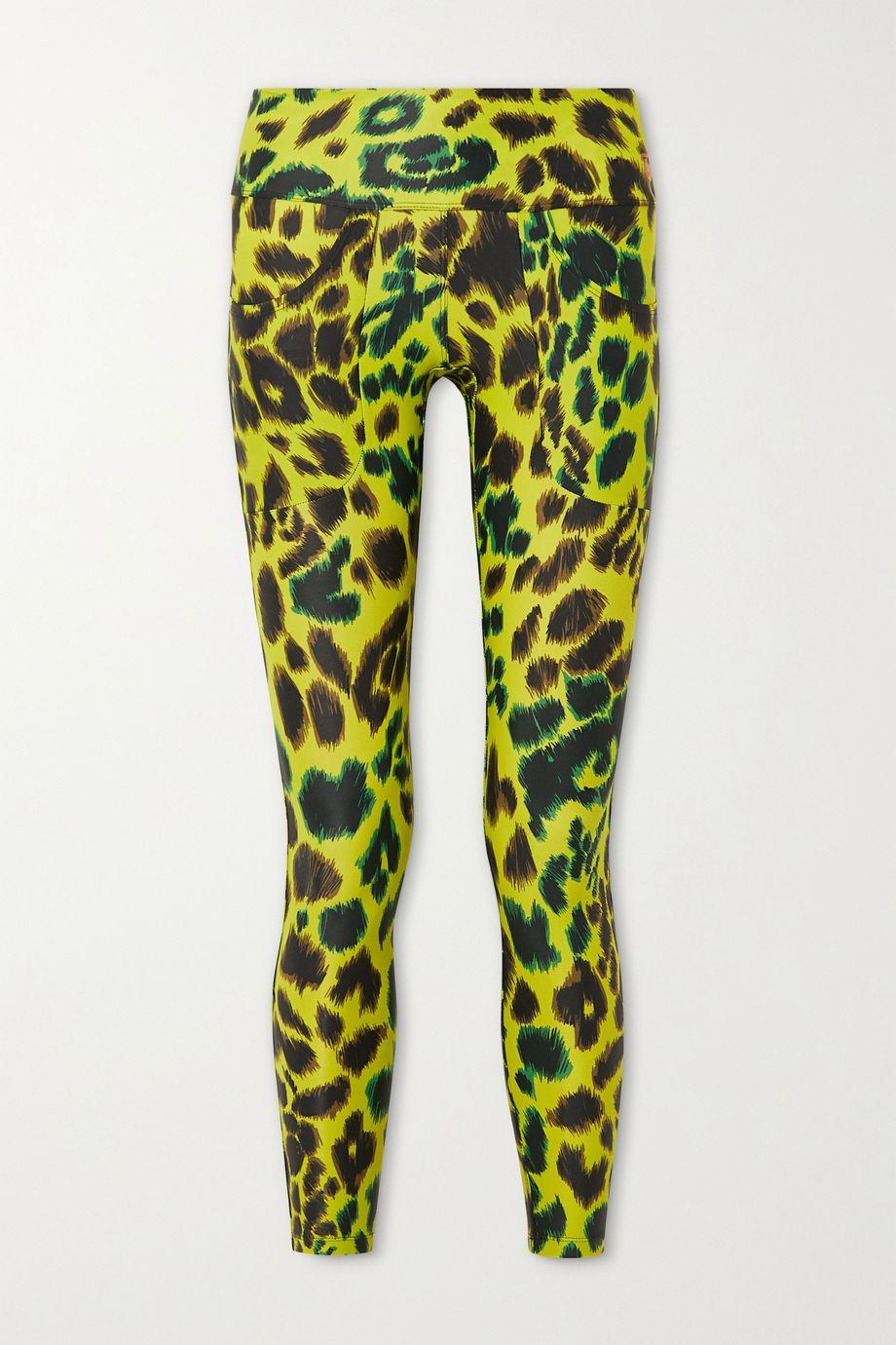 Twin Fantasy Leopard-print stretch leggings