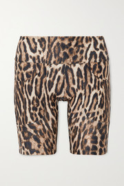Twin Fantasy Leopard-print stretch shorts