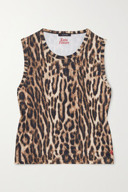 Twin Fantasy Cropped leopard-print stretch tank