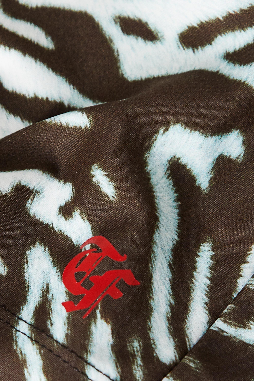 Twin Fantasy Cropped tiger-print stretch tank