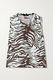 Twin Fantasy Cropped tiger-print stretch tank