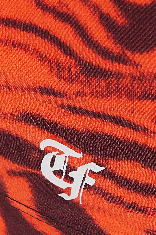 Twin Fantasy Tiger-print stretch tank