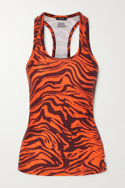 Twin Fantasy Tiger-print stretch tank
