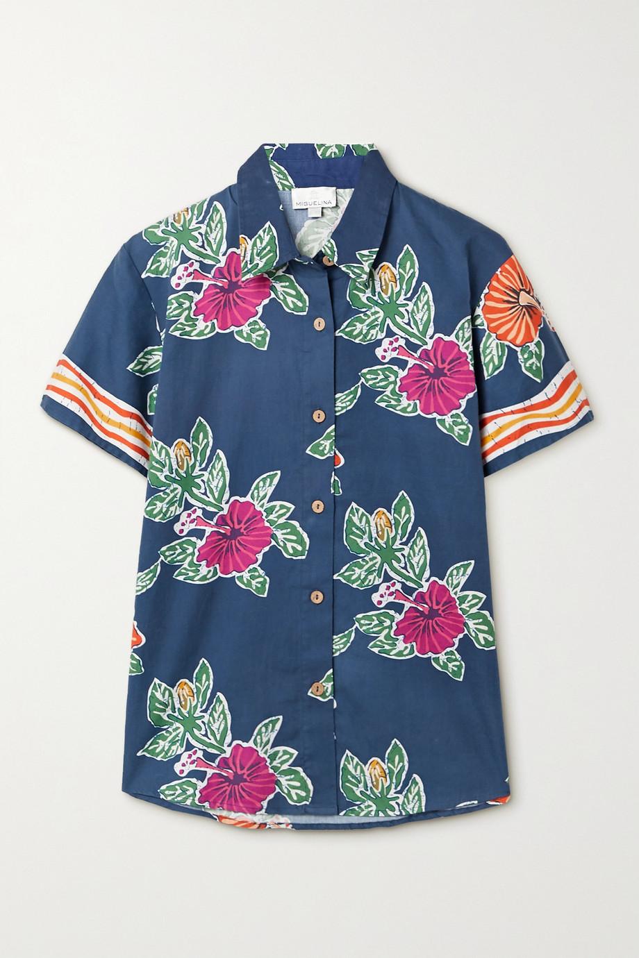 Miguelina Kaiyah floral-print cotton shirt