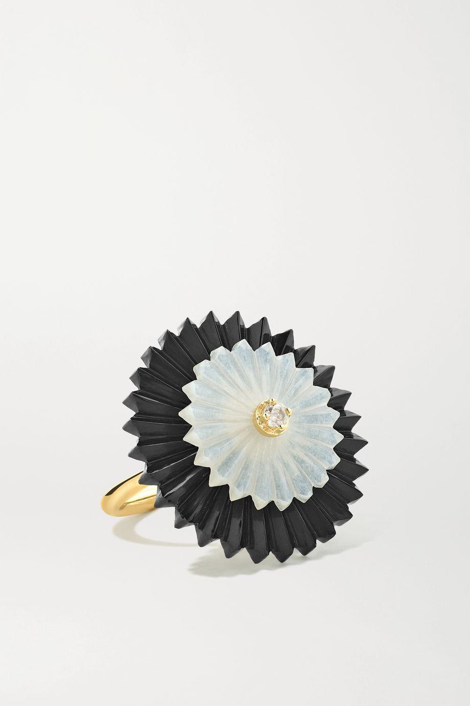 Alice Cicolini Summer Snow 9-karat gold multi-stone ring