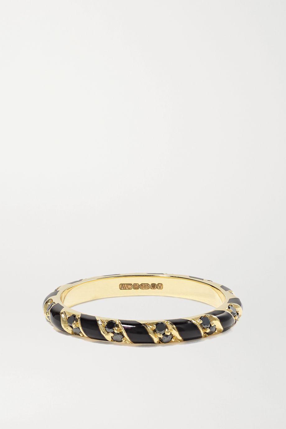 Alice Cicolini Memphis Candy 14-karat gold, enamel and diamond ring