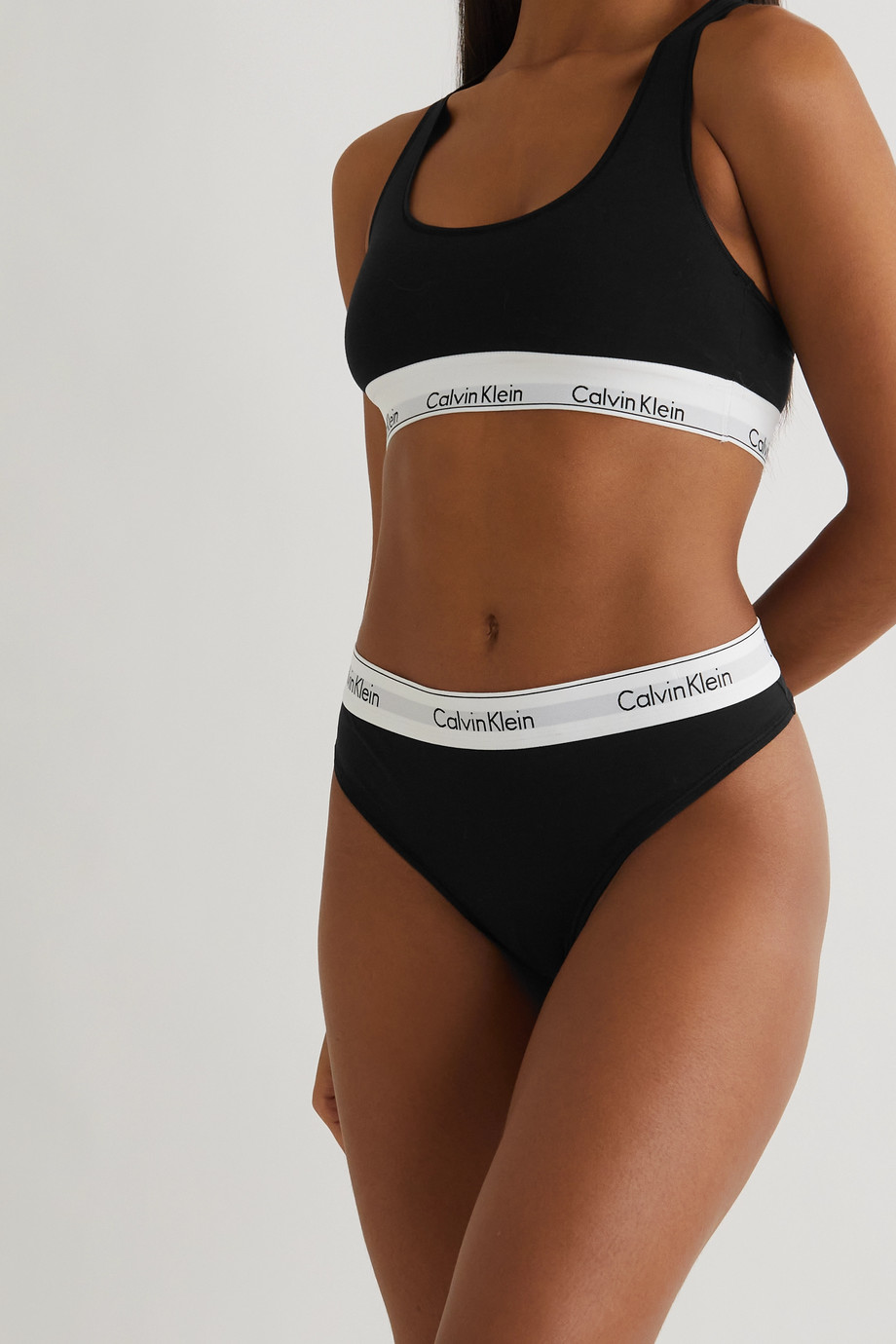 Calvin Klein Underwear Modern Cotton stretch cotton-blend jersey briefs