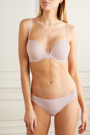 Calvin Klein Underwear Liquid Touch picot-trimmed stretch-jersey underwired plunge bra
