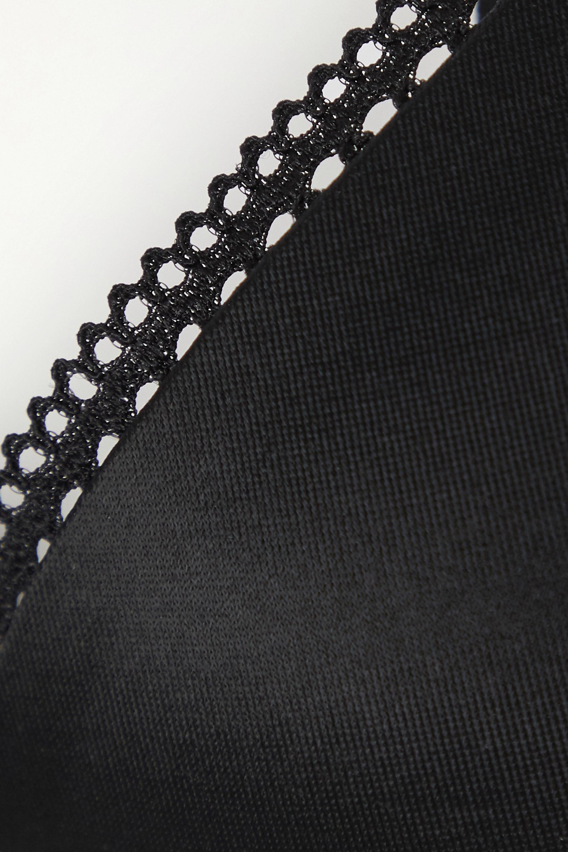 Calvin Klein Underwear Liquid Touch picot-trimmed stretch-jersey underwired plunge bra