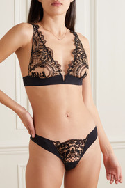 I.D. Sarrieri Embroidered stretch-tulle and jersey soft-cup triangle bra