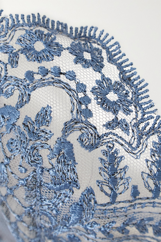 I.D. Sarrieri Embroidered tulle underwired balconette bra
