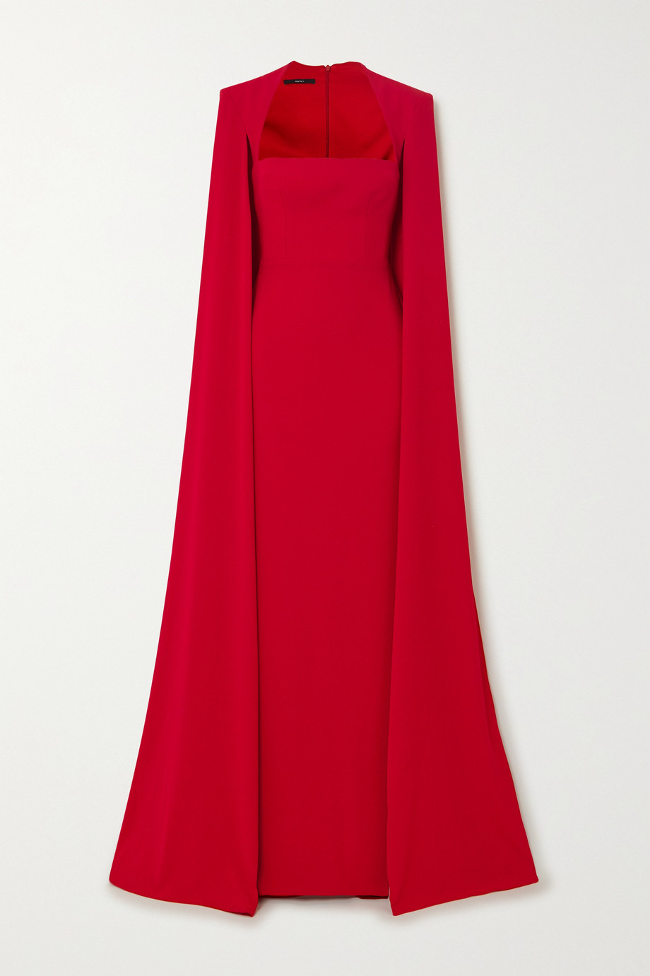 Alex Perry Laurel cape-effect crepe gown