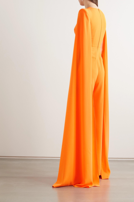 Alex Perry Lila cape-effect crepe jumpsuit