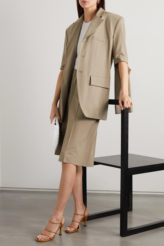 GAUCHERE Praline wool-blend shorts
