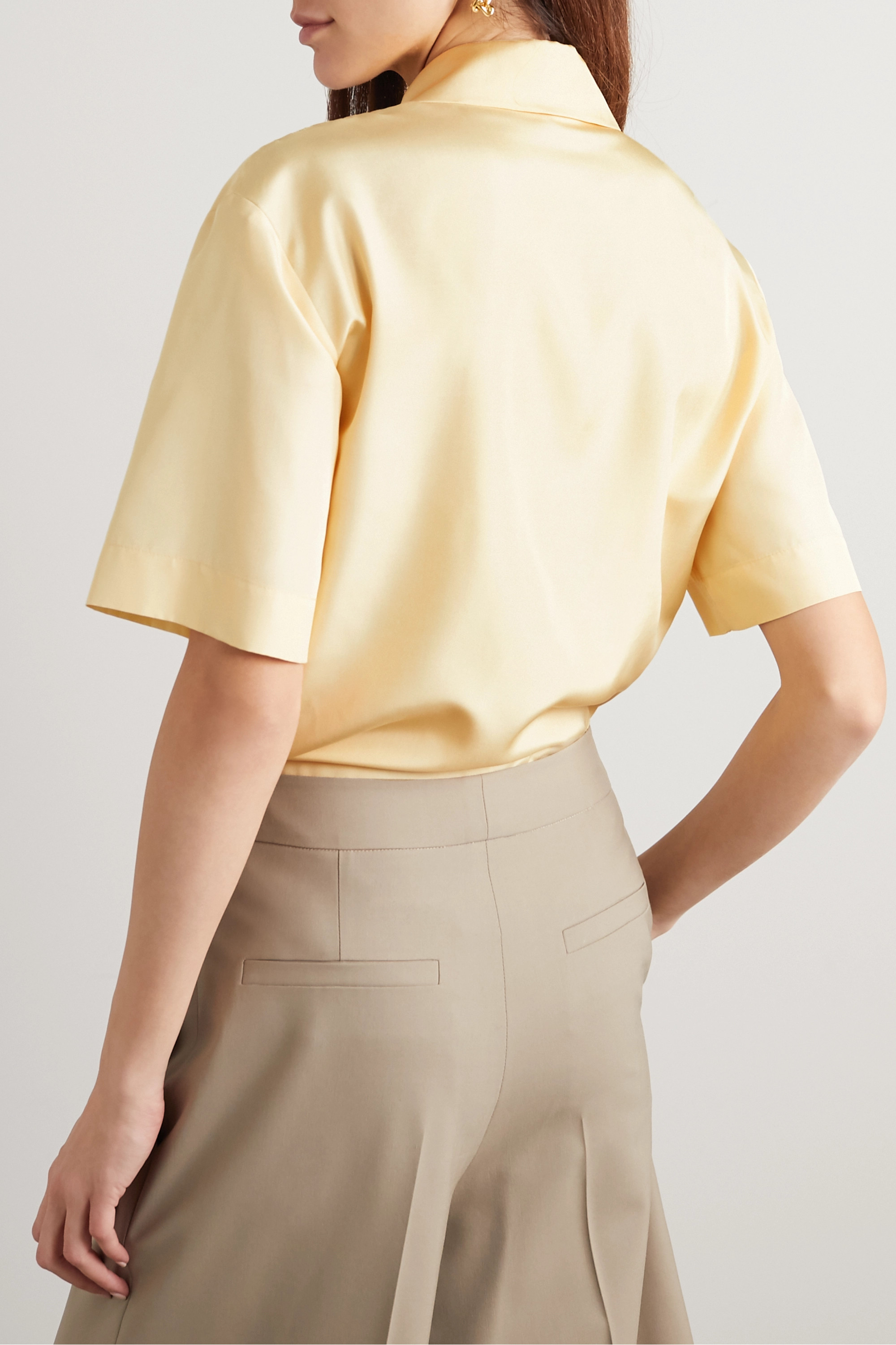 GAUCHERE Perrette underwired silk-satin shirt