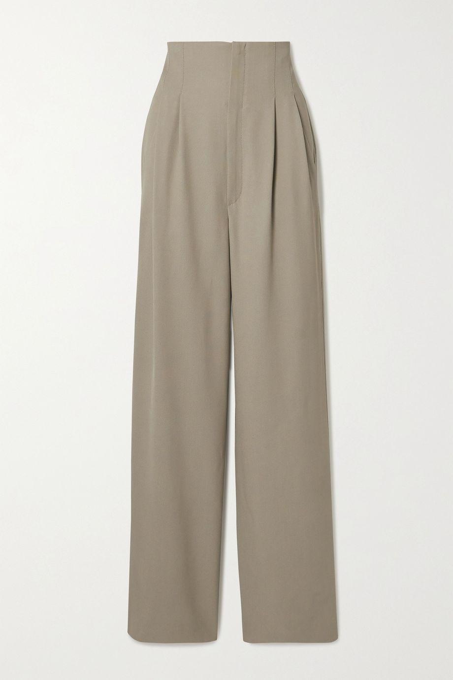 GAUCHERE Poe pleated twill wide-leg pants