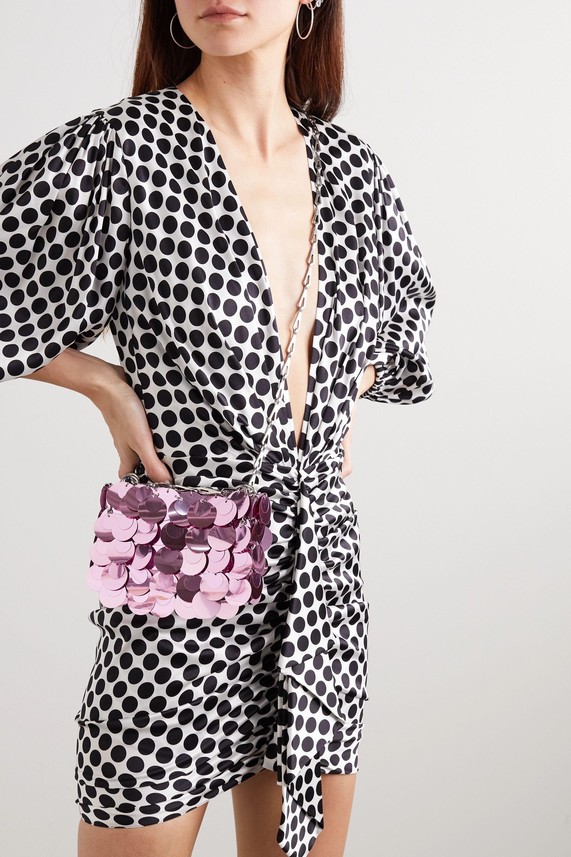 Paco Rabanne Sparkle Nano 1969 paillette-embellished chainmail shoulder bag