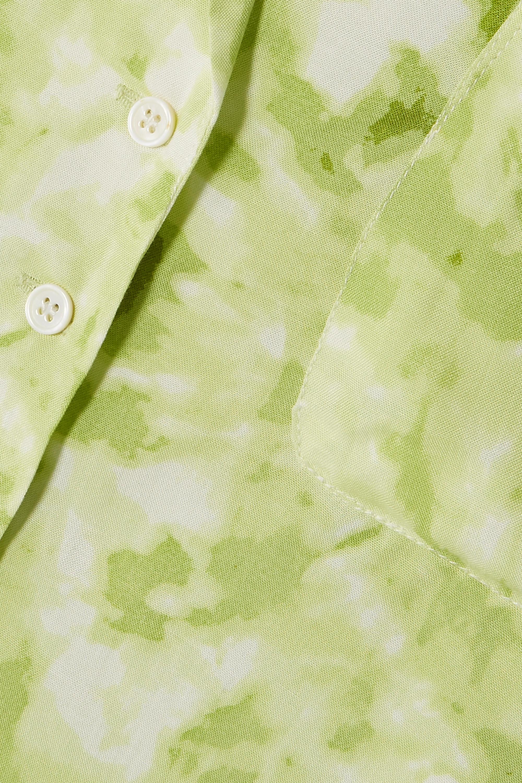 Faithfull The Brand Pampelonne tie-dyed crepe pajama shirt