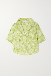Faithfull The Brand Pampelonne tie-dyed crepe pajama shirt