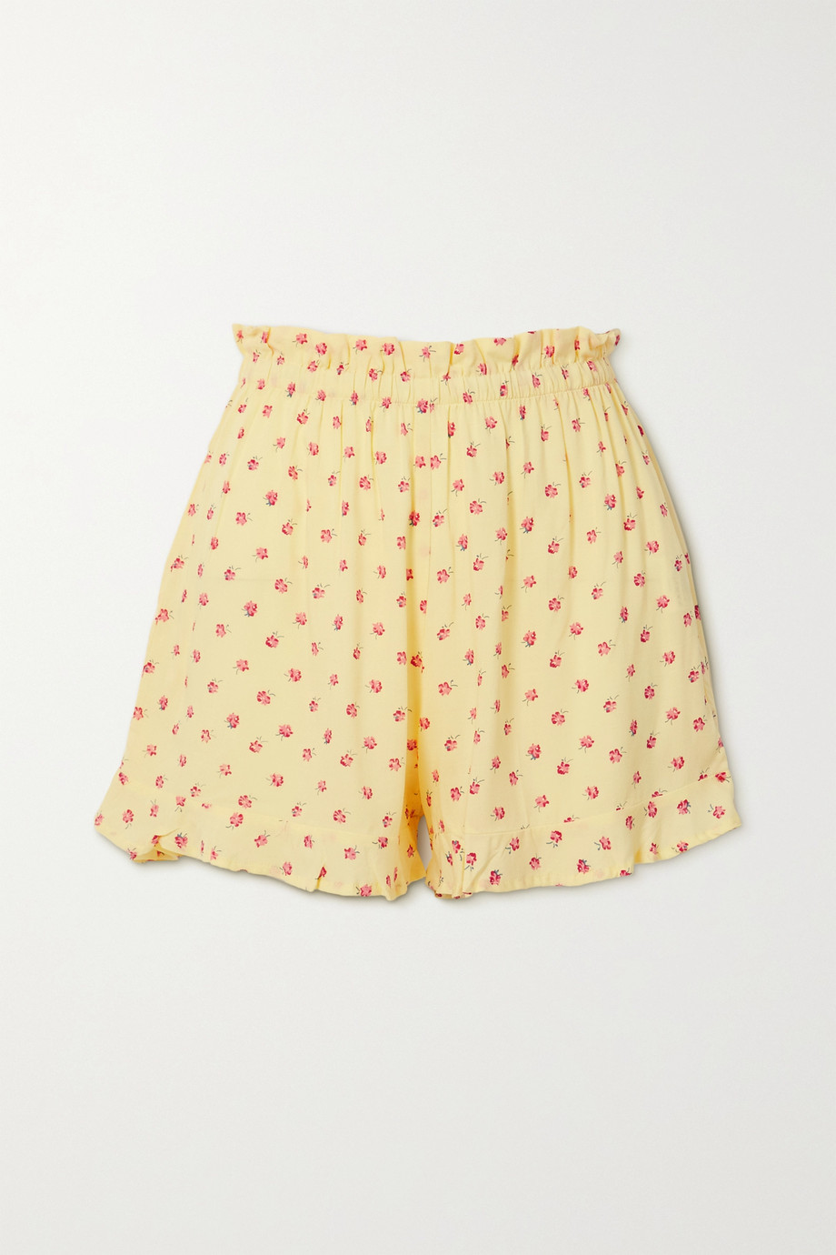 Faithfull The Brand Pampelonne ruffled floral-print crepe shorts