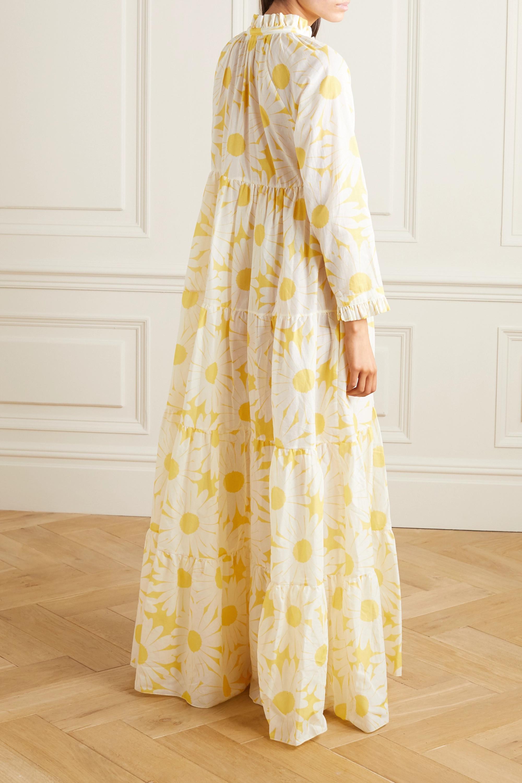 Eywasouls Malibu Cora tiered floral-print cotton-voile maxi dress
