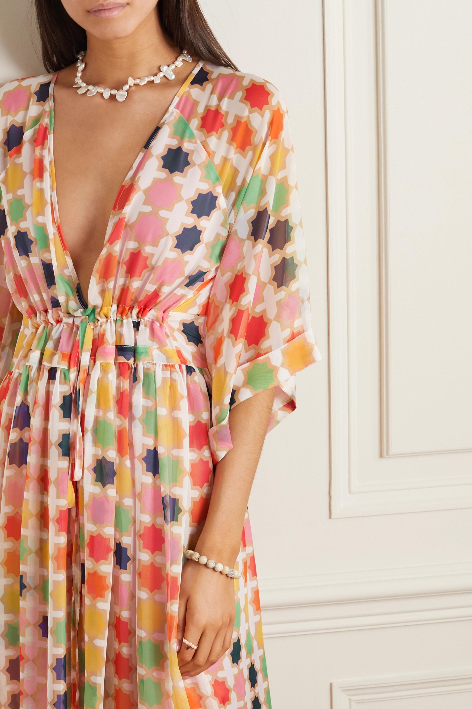 Eywasouls Malibu Liliane printed chiffon maxi dress