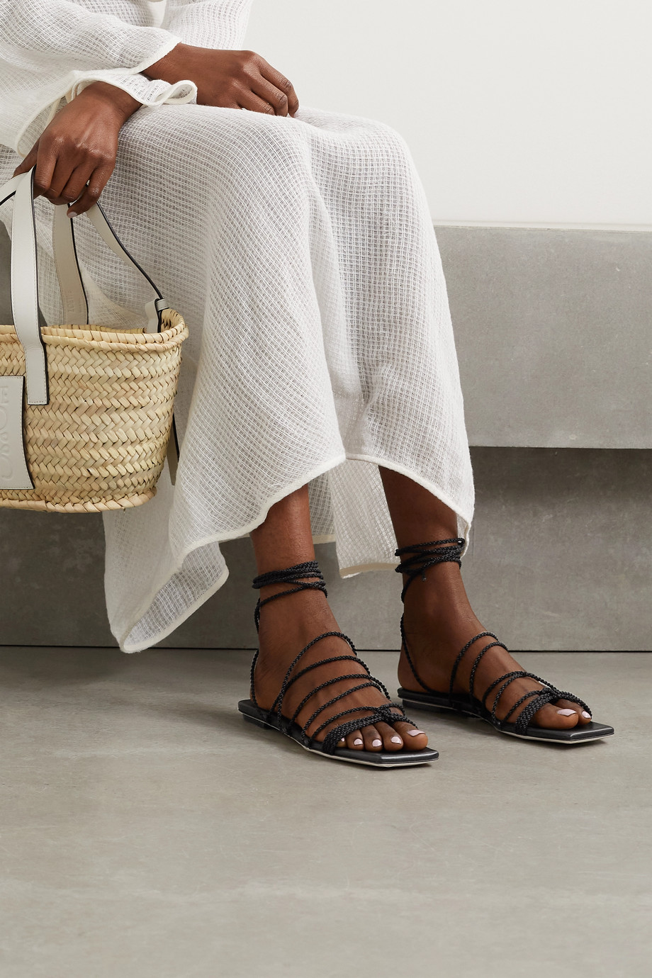 Serena Uziyel Ophilia braided rope sandals