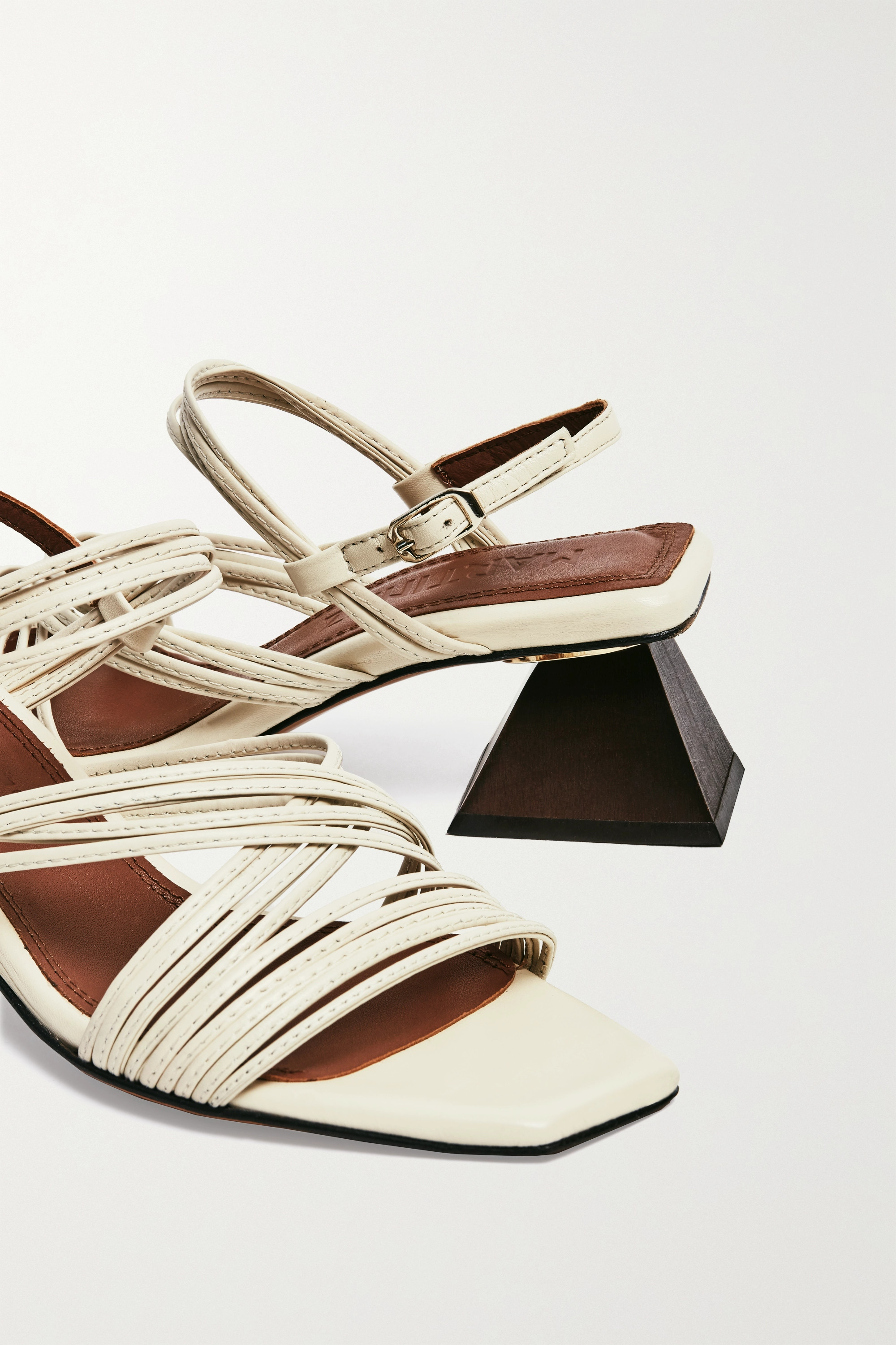 Souliers Martinez Penelope 55 leather slingback sandals