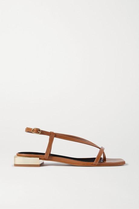 Tan Paulina leather sandals | Souliers Martinez 4sgO93