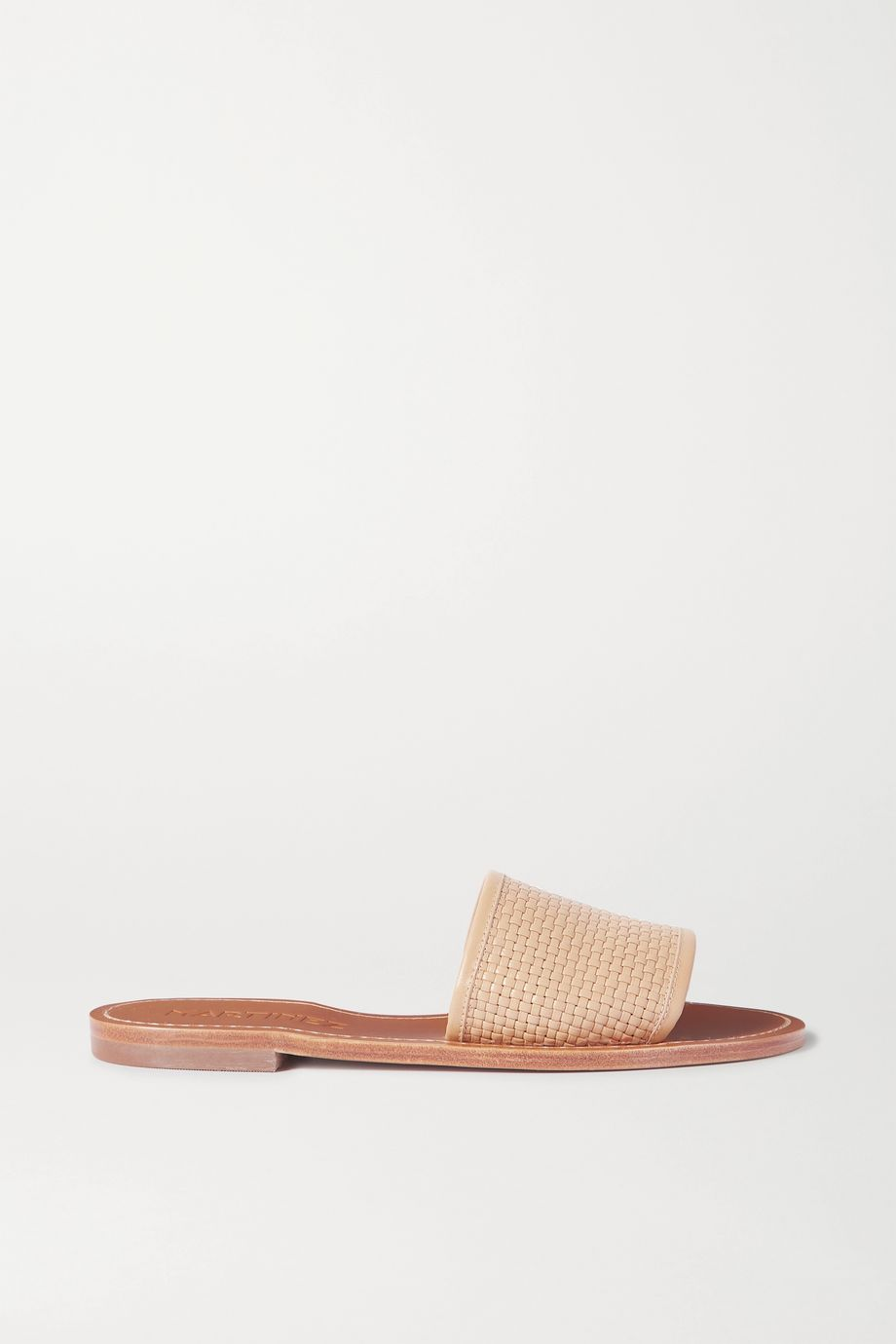 Souliers Martinez Playa Telar woven leather slides