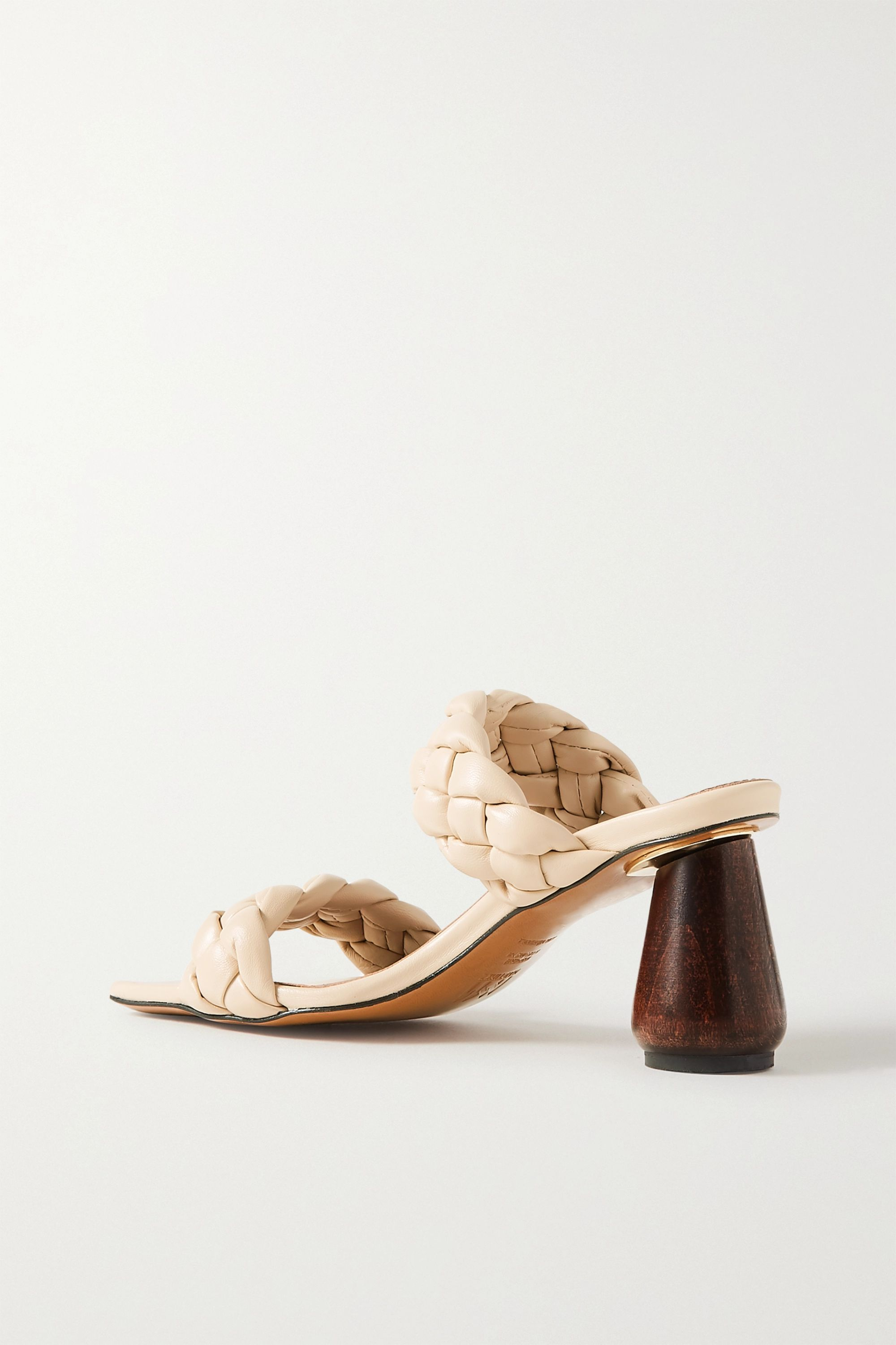 Souliers Martinez Mitjorn braided leather mules