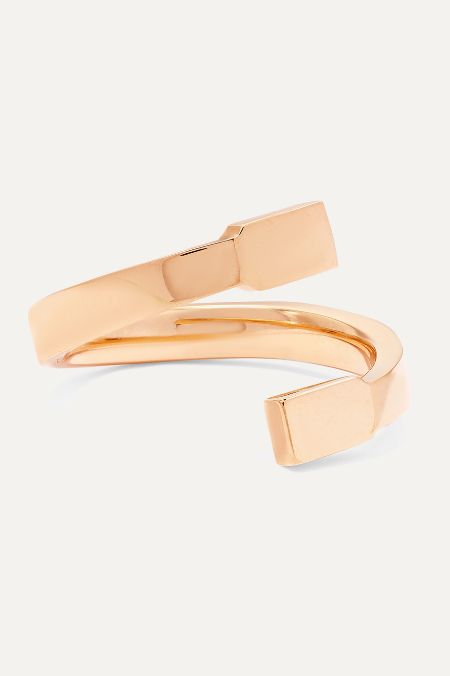 Repossi Serti Sur Vide 18-karat rose gold ring