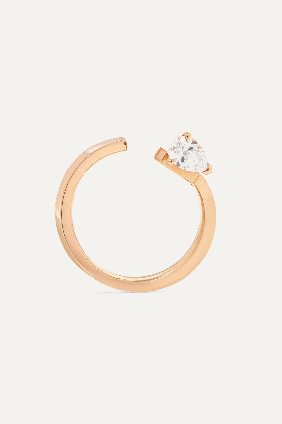 Repossi Serti Sur Vide 18-karat rose gold diamond earring