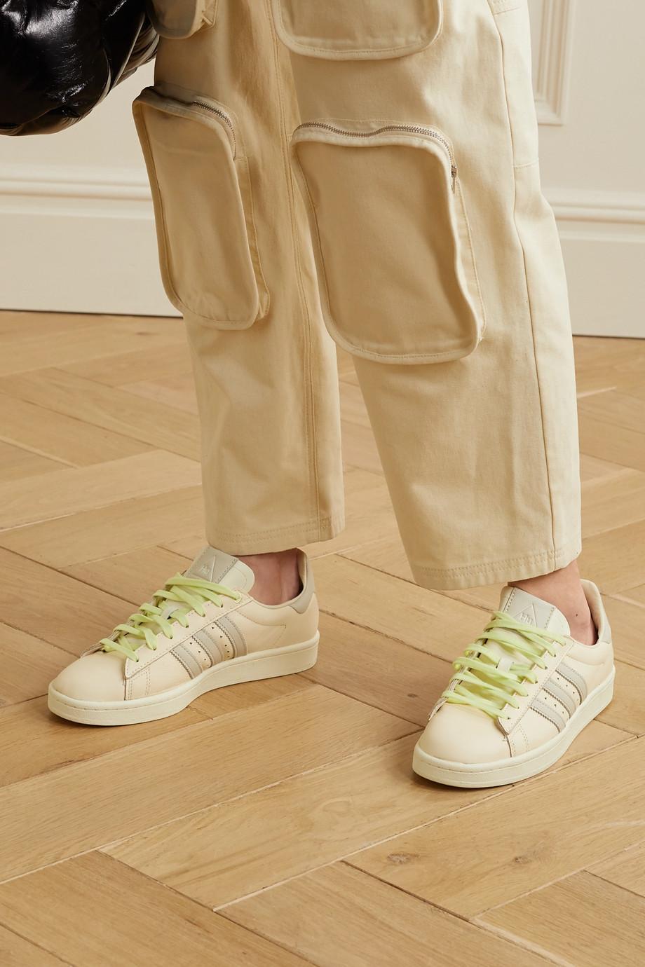 adidas Originals + Pharrell Williams Hu Campus Sneakers aus Leder