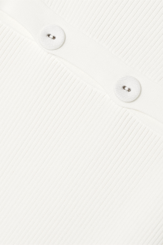 Christopher Esber Button-detailed ribbed-knit dress