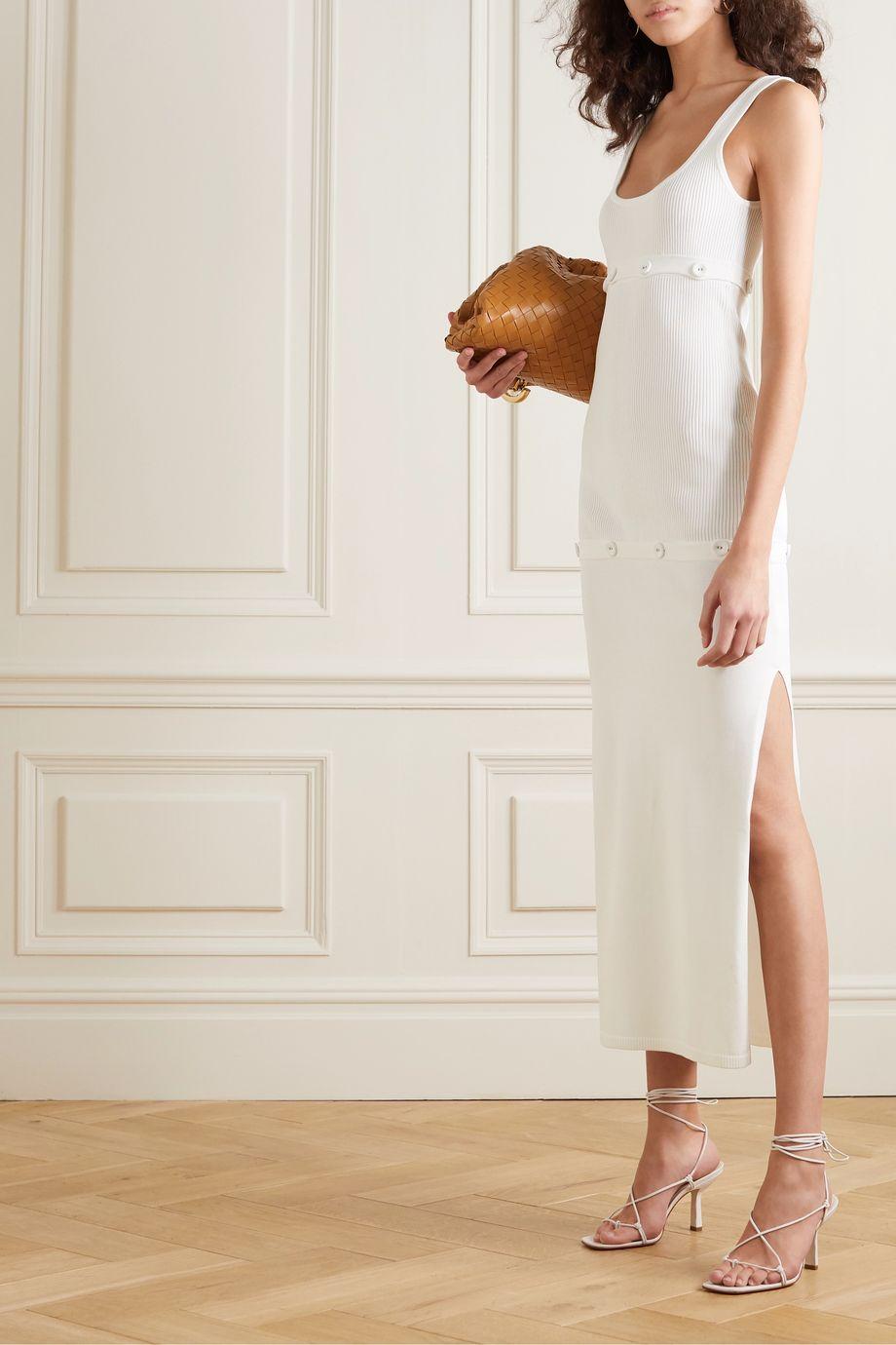 Christopher Esber Kleid aus Rippstrick mit Knöpfen