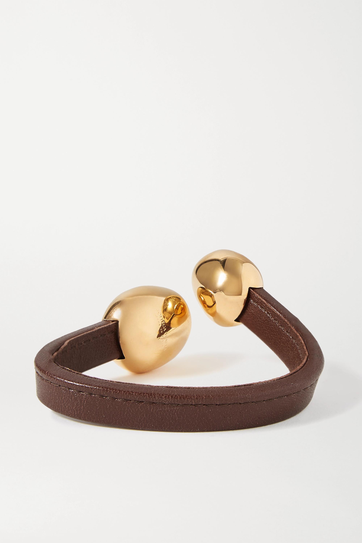 Bottega Veneta Leather and gold-tone cuff
